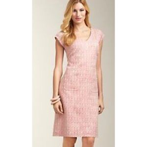 NWT Talbots Pink Capped Sleeves Sheath Dress